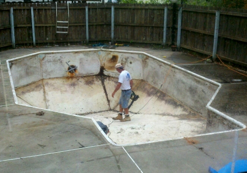 pool empty 6